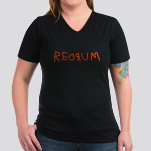 Redrum Women's V-Neck Dark T-Shirt