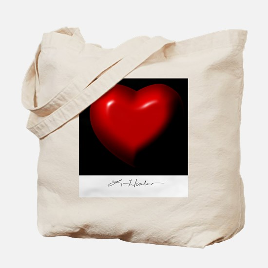 Red Heart Design by Leslie Harlow Tote Bag