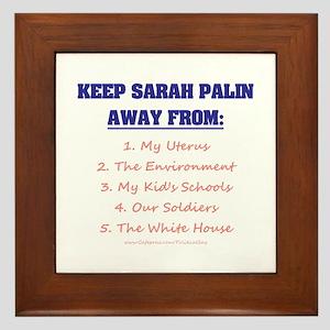 Keep Palin Away Framed Tile