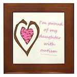 Daughter w/ Autism Framed Tile