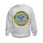 USS CONSTELLATION Kids Sweatshirt