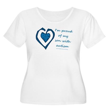 Son w/ Autism Women's Plus Size Scoop Neck T-Shirt