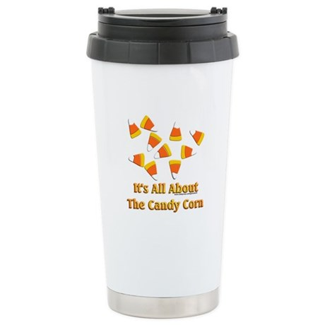 Candy Corn Stainless Steel Travel Mug