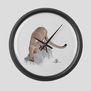 Large Cougar Wall Clock