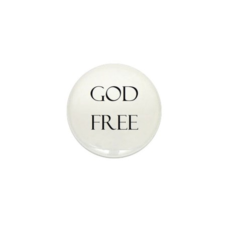 God Free Mini Button (10 pack)