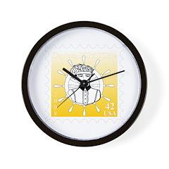 Captain Scratch Stamp Design Wall Clock