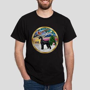 XmasMagic/Schnauzer (G) Dark T-Shirt