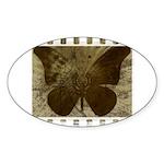 Vibrant Butterfly Art Sticker