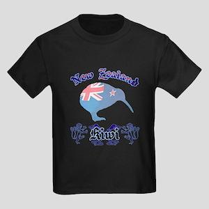 Classic New Zealand Kiwi Kids Dark T-Shirt