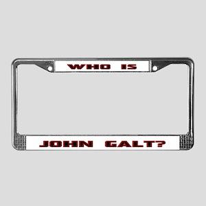 Who is John Galt License Plate Frame