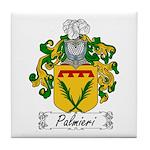 Palmieri Family Crest Tile Coaster