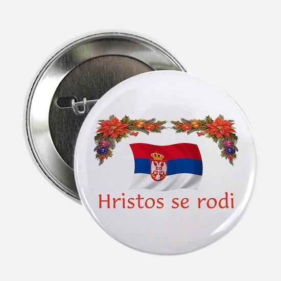 "Serbia Hristos...2 2.25"" Button"