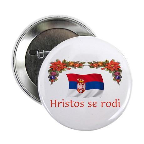 "Serbia Hristos...2 2.25"" Button (10 pack)"