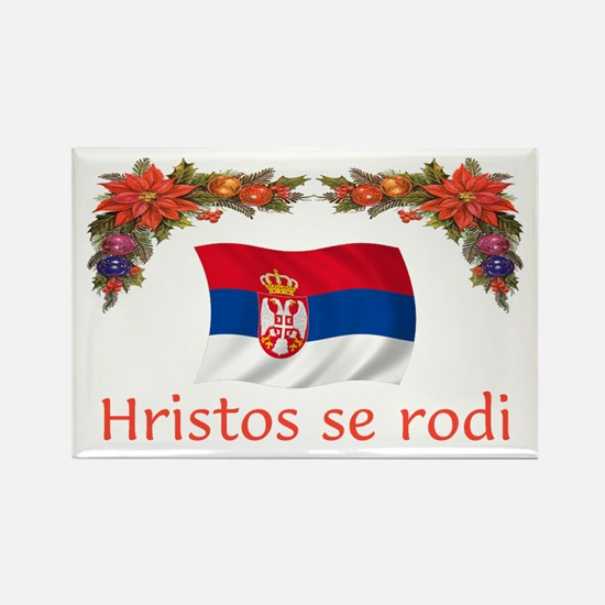 Serbia Hristos...2 Rectangle Magnet