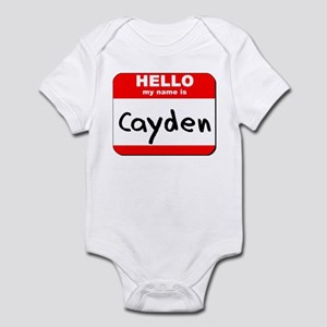 Hello my name is Cayden Infant Bodysuit