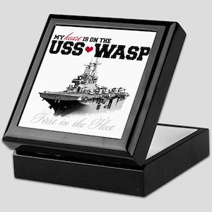 USS Wasp (Heart) Keepsake Box