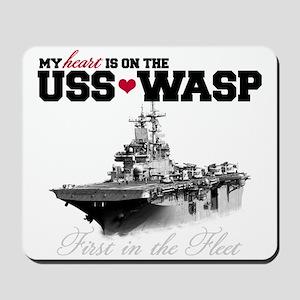 USS Wasp (Heart) Mousepad