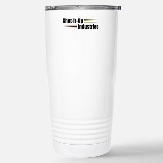 Shut It Up Industries Stainless Steel Travel Mug