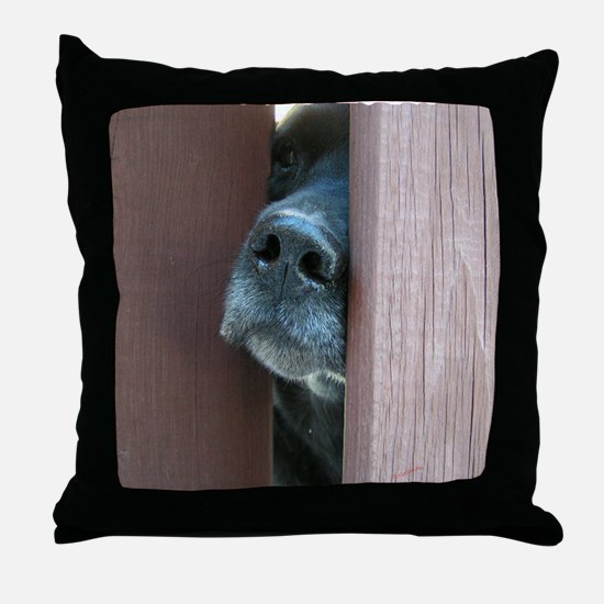 The Nose Knows Throw Pillow