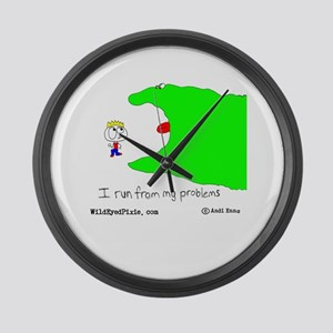 Wild Eyed Pixie - MyProblems Large Wall Clock