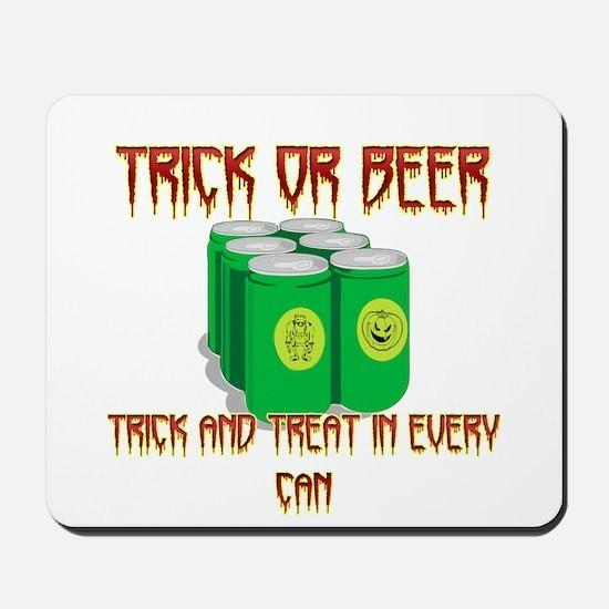 Trick Or Beer Mousepad