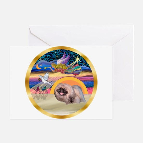 XmasStar/Pekingese #10 Greeting Card