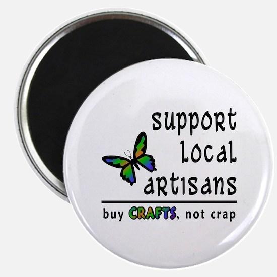Buy Crafts, Not Crap! Magnet