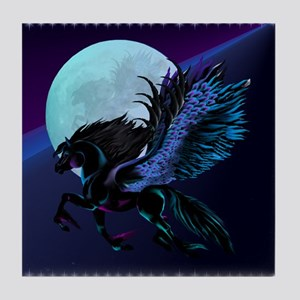 Black Pegasus Tile Coaster