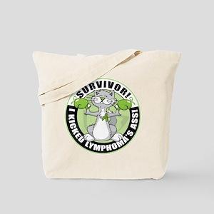 Lymphoma Survivor: Boxing Cat Tote Bag