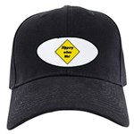 Slippery When Wet Sign 2 - Black Cap
