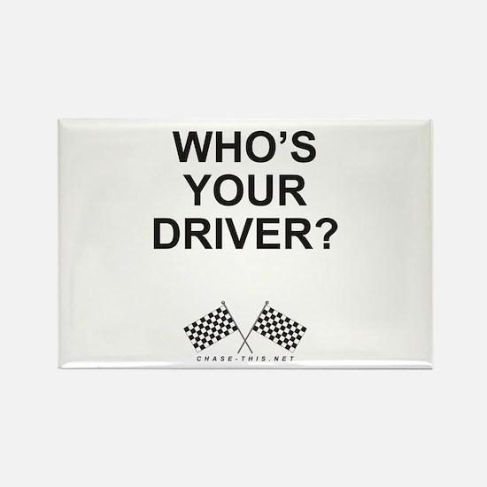 Checker Flag Driver Rectangle Magnet