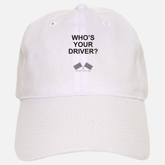 Checker Flag Driver Baseball Baseball Cap