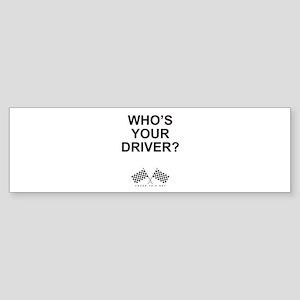 Checker Flag Driver Bumper Sticker
