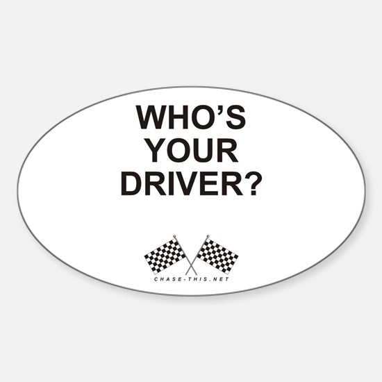 Checker Flag Driver Oval Decal