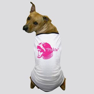 Snarling Pink Doberman Dog Dog T-Shirt