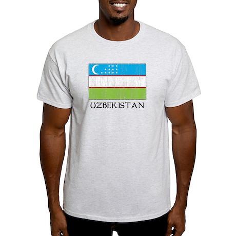 Uzbekistan Flag Light T-Shirt