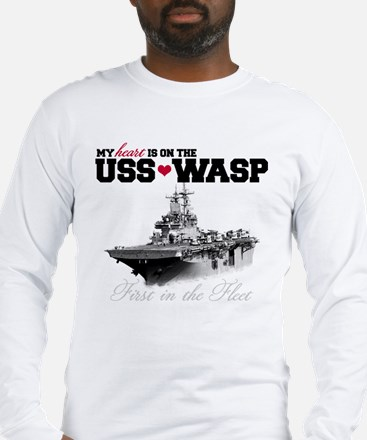 USS Wasp (Heart) Long Sleeve T-Shirt