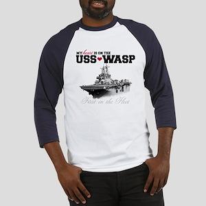 USS Wasp (Heart) Baseball Jersey