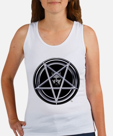 Pentagram with Father Tank (Fitted, White)