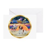 Brittany spaniel christmas Greeting Cards (20 Pack)