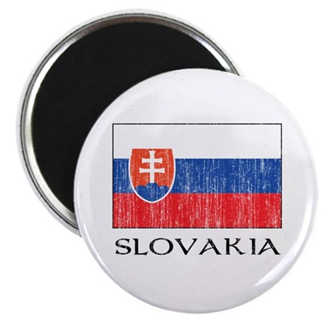 "Slovakia Flag 2.25"" Magnet (100 pack)"
