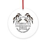 Veterans Memorial USA Ornament (Round)