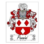 Pannini Family Crest Small Poster