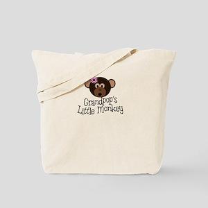 Grandpop's Little Monkey Girl Tote Bag