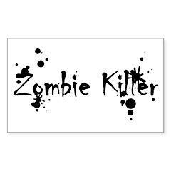 Zombie Killer Splatters Rectangle Decal