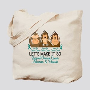 See Speak Hear No Ovarian Cancer 2 Tote Bag