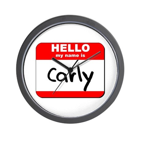 Hello my name is Carly Wall Clock