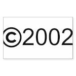 Copyright 2002 Rectangle Sticker