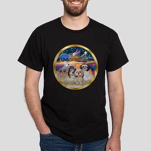 XmasStar/3 Shih Tzus Dark T-Shirt