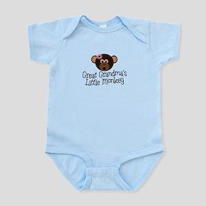 Great Grandma's Monkey G Infant Bodysuit